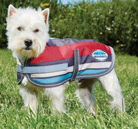 Weatherbeeta Waterproof Parka 1200D Dog Coat - Grey Stripe