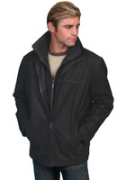 Scully Leather Men's Vintage Car Coat Black