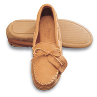 Minnetonka Mens Moosehide Classic Moccasin - Natural