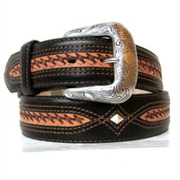 Justin Men's Herdsman Western Belt - Brown