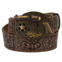 Justin Men's Pistol Buckle Belt - Brown