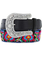 Justin Women's Rosa Bonita Belt - Black
