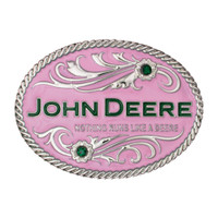 Montana Silversmith Deere Pink with Flowers Attitude Buckle