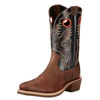 Ariat Men's Heritage Roughstock Work Boot - Black with Brown