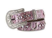 Nocona Kids Pink Horseshoe Belt