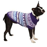 Ski Lodge Dog Sweater - Blue