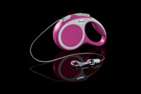 Flexi Vario Pink Retractable Tape Dog Leash