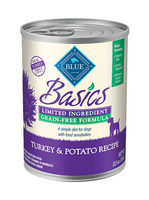 Blue Basics Grain-Free Turkey & Potato Recipe Canned Dog Food 12.5oz