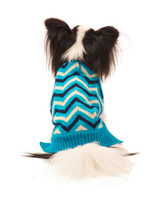 Ethical Fashion Pet Sweater Chevron Blue