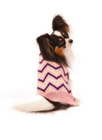 Ethical Fashion Pet Sweater Chevron Pink