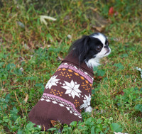 Ethical Fashion Pet Sweater Snowflake Pink
