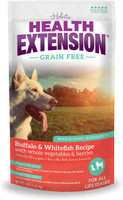 Health Extension Grain Free Buffalo & Whitefish Dry Dog Food