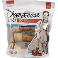 Digest-Eeze Natural Beefhide Dog Bone 4 Pk