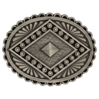 Rock 47® Points of Aztec Silver Pyramid Attitude Buckle