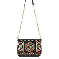 Blazin Roxx Western Handbag Womens Messenger Floral Black