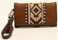 Blazin Roxx Shania Collection Aztec Ribbon Clutch - Brown