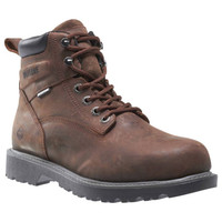 "Wolverine Men's Floorhand 6"" Waterproof Steel Toe - Brown"