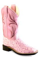 Jama Old West Child Broad Square Toe - Pink
