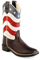Jama Old West Child Cowboy Boots USA Flag
