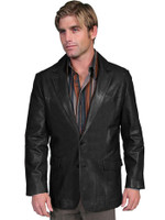 Scully Men's Lambskin Leather Blazer - Black