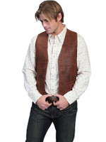 Scully Men's Lamb Leather Vest - Antique