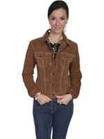 Scully Women's Suede Jean Jacket - Brown