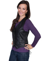 Scully Women's Soft Touch Lamb Vest - Black