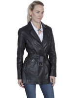 Scully Women's Washed Lamb Coat - Black