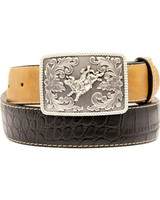 Nocona Kids Gator Belt - Black