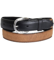 Nocona Western Belt Boys Kids Concho Overlays -  Brown/Black