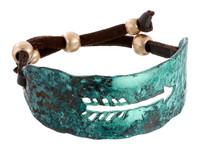 Blazin Roxx Turquoise Arrow Cuff Bracelet