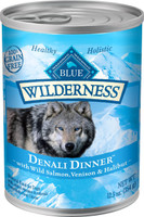 Blue Wilderness Denali Dinner with Wild Salmon, Venison & Halibut Grain-Free Canned Dog Food, 12.5-oz