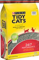 Tidy Cats Non-Clumping 24/7 Performance Long Lasting Odor Control Cat Litter 20lb