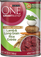 Purina ONE SmartBlend Classic Ground Lamb & Long Grain Rice Entree Adult Canned Dog Food 13oz