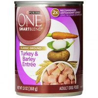 Purina ONE SmartBlend TURKEY BARLEY Adult Canned Dog Food 13oz
