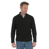 Wrangler Men Riggs Workwear 1/4 Zip Fleece Pullover - Black