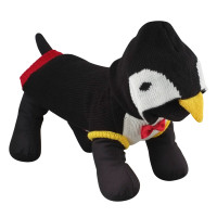Tuxedo Penguin Hoodie Dog Sweater - Black and White