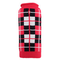 Oxford Plaid Red Roll Neck Sweater