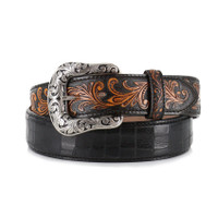 Tonly Lama Men's Pinto Classic Leather Belt - Black