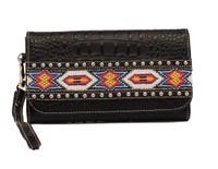 Blazin Roxx Western Wallet Womens Clutch Beads - Black