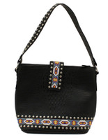 Blazin Roxx Western Handbag Womens Shoulder Beaded Black
