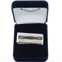 Montana Silversmiths River Pebbles at Sunset Money Clip
