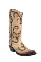 Corral Women's  Bone Laser Cowboy Boots - Tan