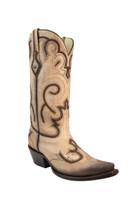 Corral Women's  Bone Laser Cowboy Boots - Tan