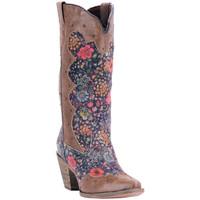 Laredo Women's Gloria Floral Cowboy Boots - Chocolate
