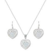 Montana Silversmiths Roped My Heart Jewelry Set