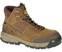 Cat Men's Device Waterproof Composite Toe Work Boot Dark Beige