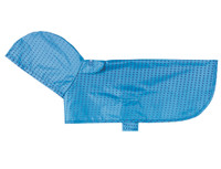 Packable Poncho Cyan Halftone