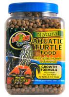 Zoo Meds Natural Aquatic Turtle Food - Growth Formula 7.5oz