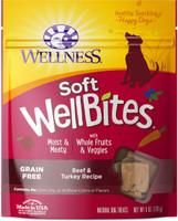 Wellness WellBites Grain-Free Beef & Turkey Recipe Soft & Chewy Dog Treats, 6-oz
